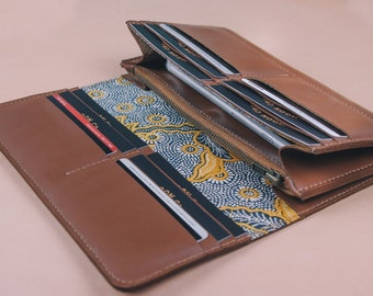 Leather Long Wallet // Ladies Long Wallet // Leather Card Wallet // Leather Wallet // Phone Wallet