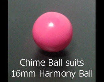 Pink Harmony Chime Ball 16mm - Suits 18mm Harmony Ball - Replacement Chime Ball for your Harmony Ball Pendant, Angel Caller, Bola Necklace