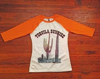 Tequila Sunrise Baseball Tee