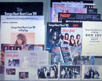 Bon Jovi Japanese Concert Press Kit 1989