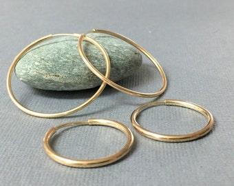 Large gold hoops, Classic gold hoops, Extra large hoop earrings, Minimalist hoop earrings, Everyday gold earrings, Delicate hoop earrings