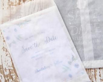 20 Sacchetti GRANDI di carta pergamino - 20 Glassine Bags