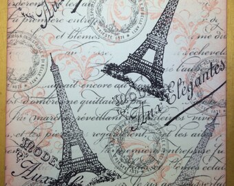 Paris Inspired Note Card Set