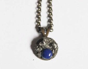 Lapis Lazuli + Pyrite Necklace