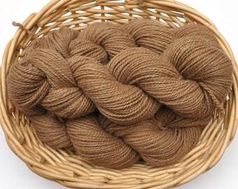 Northwest Natural Yarn - Locally Produced Alpaca / Merino Wool Yarn, DK weight, 200 yards - Natural Brown