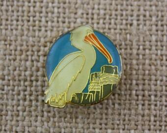 Pelican - Enamel Pin by American Gag Bag Inc. - Vintage Novelty Pin c. 1980s