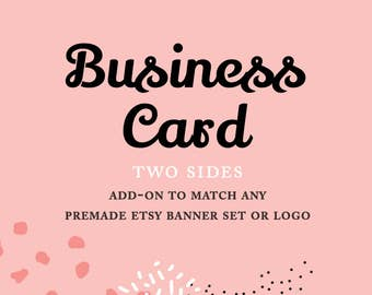 Business Card Design for Premade Etsy Shop Set · Business Card Design · Premade Business Card Template ·  Wedding Planners Business Card