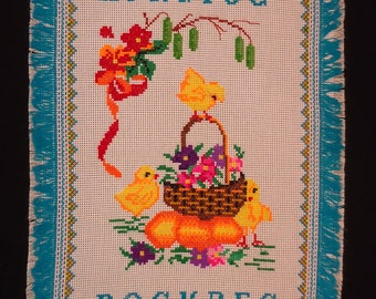 Ukrainian Hand Embroidered Easter Basket Cover, Rushnyk