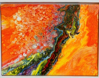 Sahara  is made by AjAspinall AbstractArt created on canvas one-off original unique painting signed Certificate of Authenticity