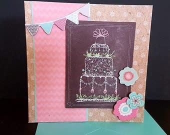 Happy birthday card. Greetings card. Birthday card. Happy birthday. Just for her. Birthday cake. Birthday. Birthday girl. Special Birthday.