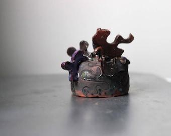 Wall Decor, Miniature Sculpture, Rustic Style, Organic look