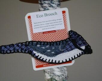 Bluejay Brooch; Bird Brooch; Songbird Brooch; Eco Friendly accessory