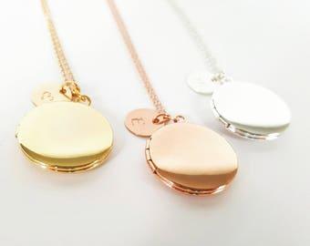 Personalized Gold Locket - Flowergirl Locket - Wedding Locket - Childrens Locket - Initial Locket - Bridesmaid Necklace -Flowergirl Necklace