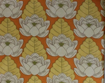 Amy Butler Lotus Collection-Lotus Pond-Tangerine; AB21; Cotton Woven Fabric; 1/2 yd
