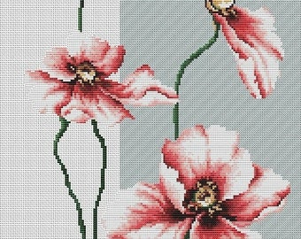 Poppies SB2239 - Cross Stitch Kit by Luca-s