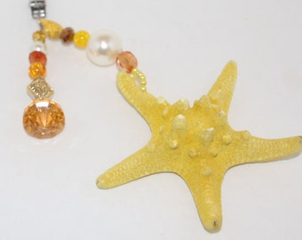Knobby Yellow Starfish Tablecloth Weights Set of 4