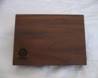 Texaco Wood Box with Playing Cards