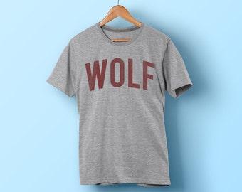 Wolf Shirt - Men / Female - Vintage Style