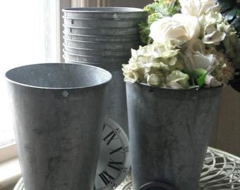 8 wedding sap buckets rustic decor gardening rustic decor metal galvanized buckets chic wedding