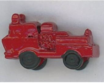 Dollhouse Miniature Toy Red Firetruck