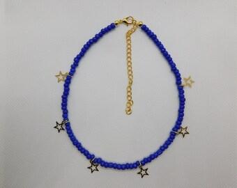Blue star choker