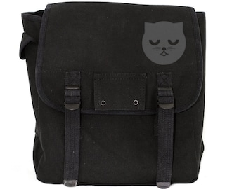 Cat Backpack, Cat Bag, Backpack, Black Backpack, Canvas Backpack, Kids Backpack, Backpack for Women, Diaper Bag Backpack, School Backpack