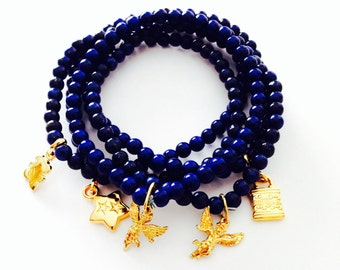 Lucky blue Mexican bracelet
