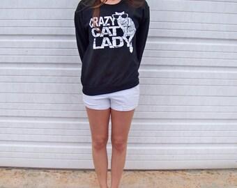 Oversized, Funny sweatshirt, Cat Sweater, Crazy Cat Lady, Cat print, womens sweatshirt, funny tees, Plus Size, cats, adopt, cat lady, RCTees
