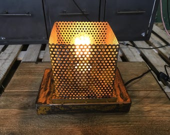 Steel industrial style lamp