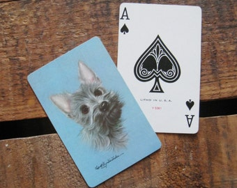 Vintage Cute Puppy Playing Card Deck - Full Deck