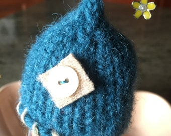 Blue Knitted and Felted Egg Cozy