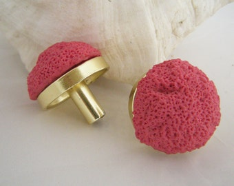 TWO Coral Drawer Pulls - Limited Edition