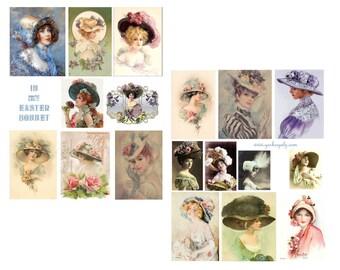 In my Easter Bonnet Digital Collage Sheet