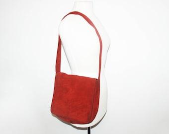 VINTAGE Suede Messenger Bag