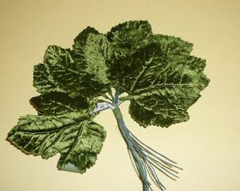 Chapellerie Vintage velours vert feuilles d'érable feuille modiste Floral fournitures livraison gratuite par VintageStudioSupply