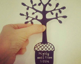 Little Acorns - an original papercut template by Loula Belle at Home, personal use only