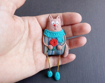 Gifts for cat lovers Cat pin Gifts for cat lovers Funny pins Gifts for cat lovers Cat brooch Badge cat Pin jacket Funny cats Cute lapel pin