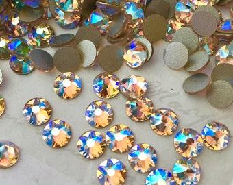 Swarovski Crystal - 100x SS20 (4.8 mm) - No Hotfix - SILK SHIMMER effect - flatbacks, diamantes, rhinestones, cream, warm, beige, glue on
