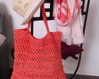 orange bag crochet