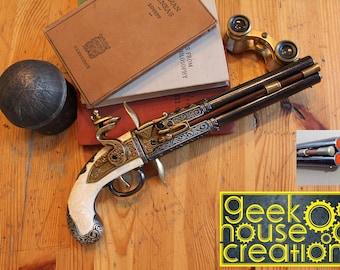 Steampunk Engraved Pirate / Steampunk Flintlock