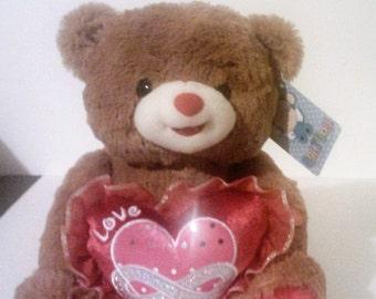 Teddy Bear With Love Heart And Music