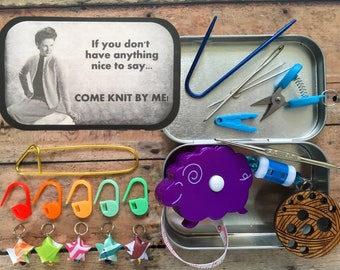 If you don't have anything nice to say: The Knitter's Tool Tin for your Knitting WIP Bag
