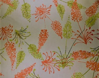 White fabric with wild plants.  Dear Stella.  Quilting Cotton Fabric.  Choose your cut.
