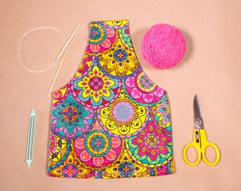 Knitting Project Bag Medium - Knitting Organizer - Knitting Commuter Bag - Yarn Holder Bag Medium