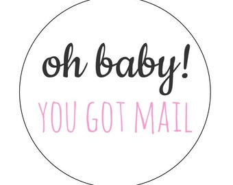 20 You Got Mail Stickers, Oh Baby, Packaging Stickers, Mailing Labels, Package Labels, Happy Mail, Shop Stickers, Thank You Stickers, Ship