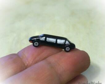 NEW Toy Limousine Car 12th Scale Artisan Handmade Tiny Dollhouse Decor Boys Room Tiny Limo Model Vehicle