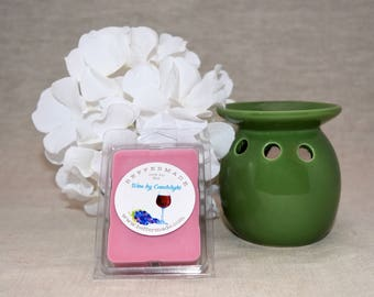 Wine by Candlelight Wax Melts, Scented Wax Cubes, Best Wax melts, Merlot scented wax bar, Merlot scented wax cubes, Merlot scented wax melts