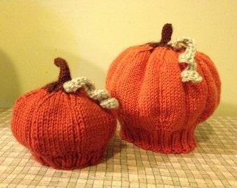 Knit Pumpkin Hat PATTERN