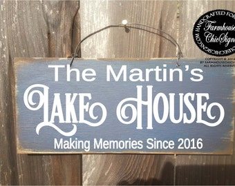 lake house sign, lake sign, lake decor, lake house decor, personalized lake house sign, gift for lake house, personalized lake sign, lake