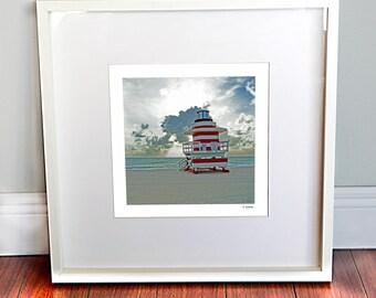 Beach Decor, Tropical Decor, Lifeguard Tower Print, Beach photography, Ocean Photography, Miami Beach, Wall Art, Wall Decor